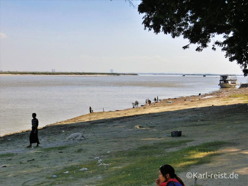Ufer Irrawaddy Fluss