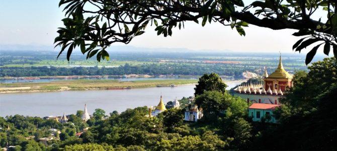 Traumhafte Aussichten über Sagaing Hill und den Irrawaddy