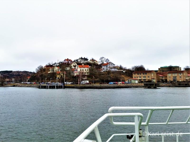 Ausblick von der Hafenfähre in Göteborg
