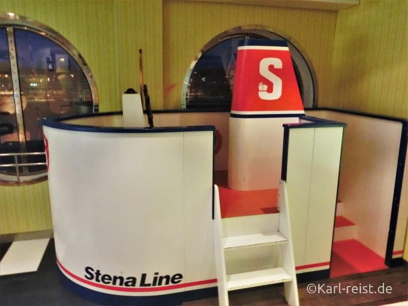 Spielschiff, Fähre in Spielecke auf Stena Scandinavican Kiel Göteborg