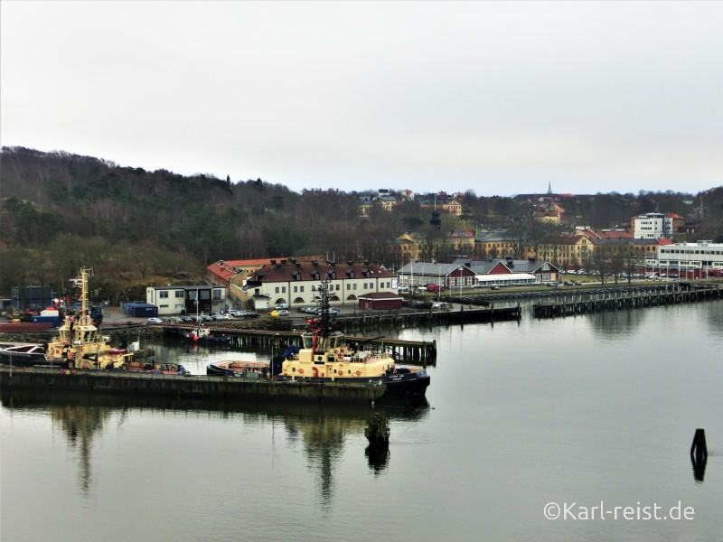 Aussicht von der Stena Scandinavican während der Fahrt nach Göteborg
