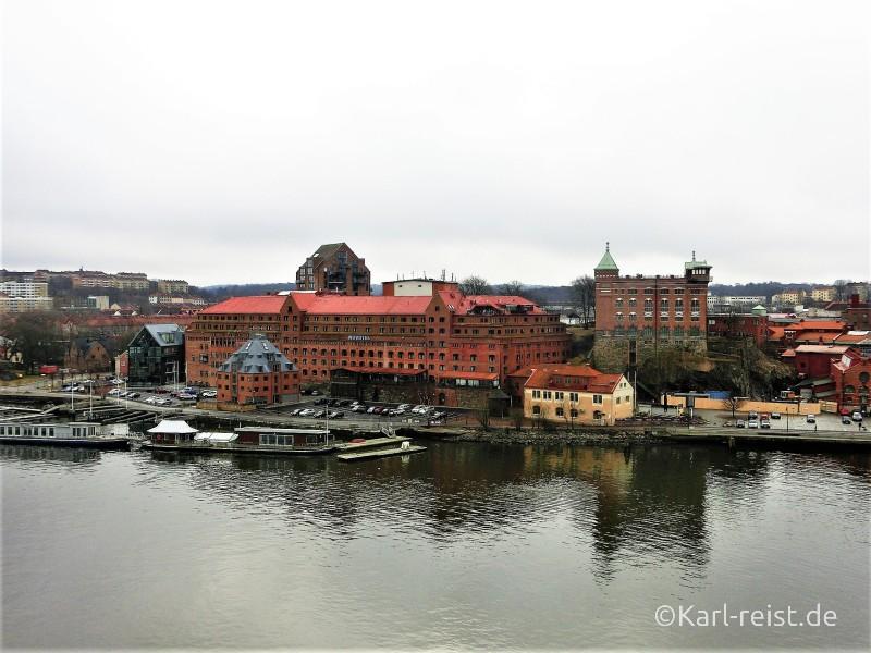 Aussicht von Stena Scandinavican aufs schwedische Festland kurz vorm Anlegen