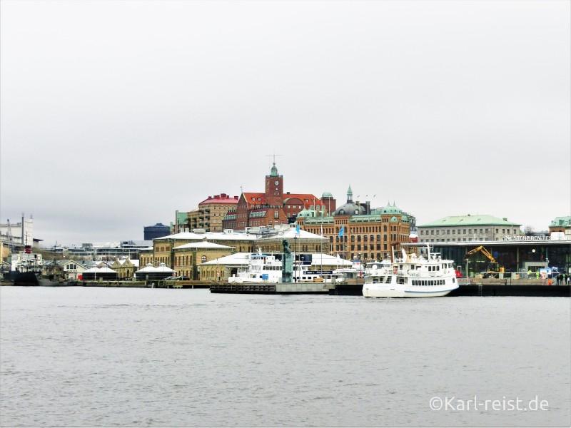 Göteborg vom Wasser Fluß aus