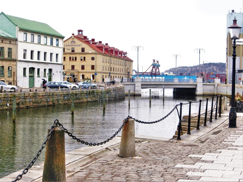 Göteborgs Innenstadt mit Kanal