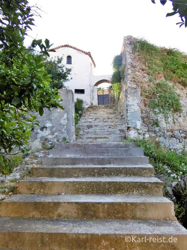 Treppe im Kloster Koroni
