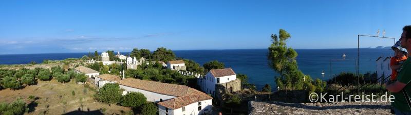 Panorama übers Kloster von Koroni