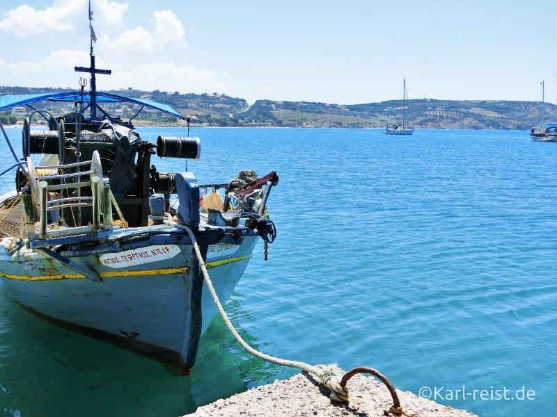 Peloponnes Methoni Fischerboot
