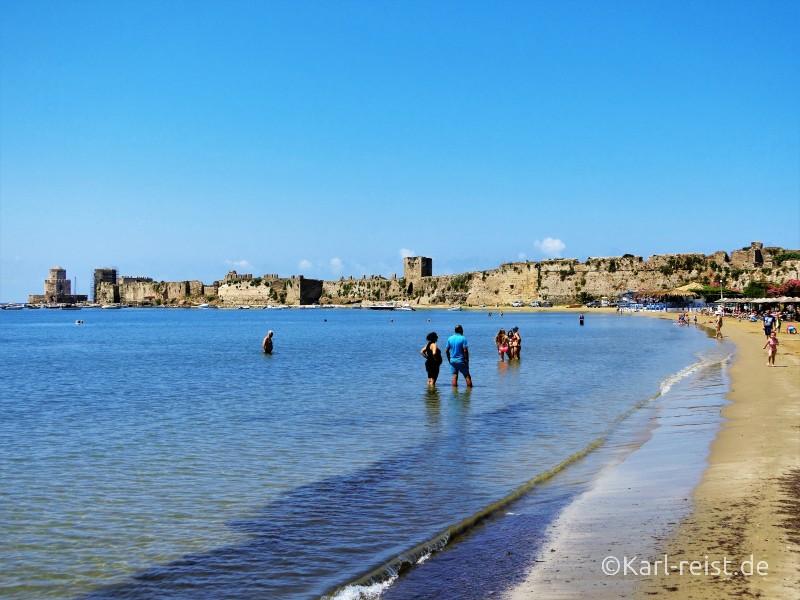 Peloponnes Methoni Burg Festung Strand