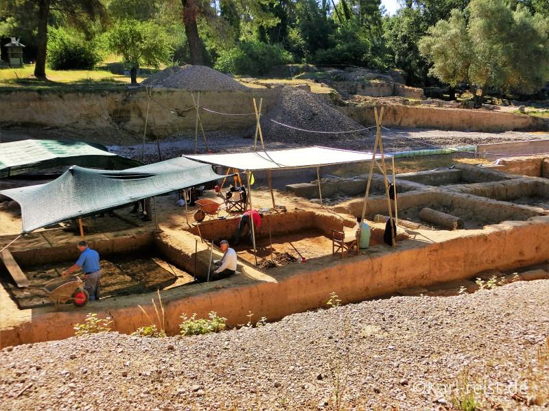 Aktuelle Ausgrabungen in Olympia.