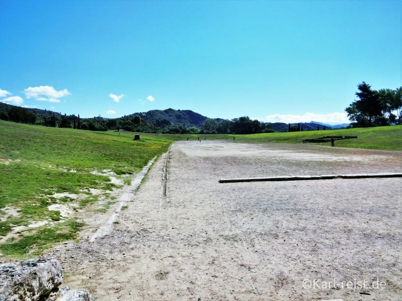 Peloponnes antikes Olympia das Stadium