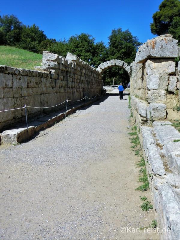 Eingang zum Stadium Olympia