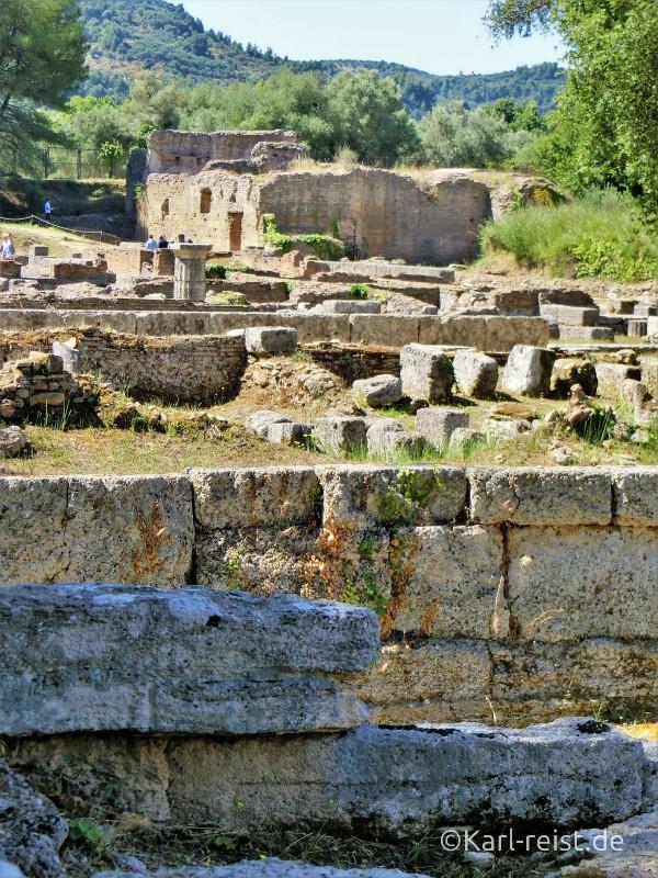 Ausgrabungen beim antiken Olympia