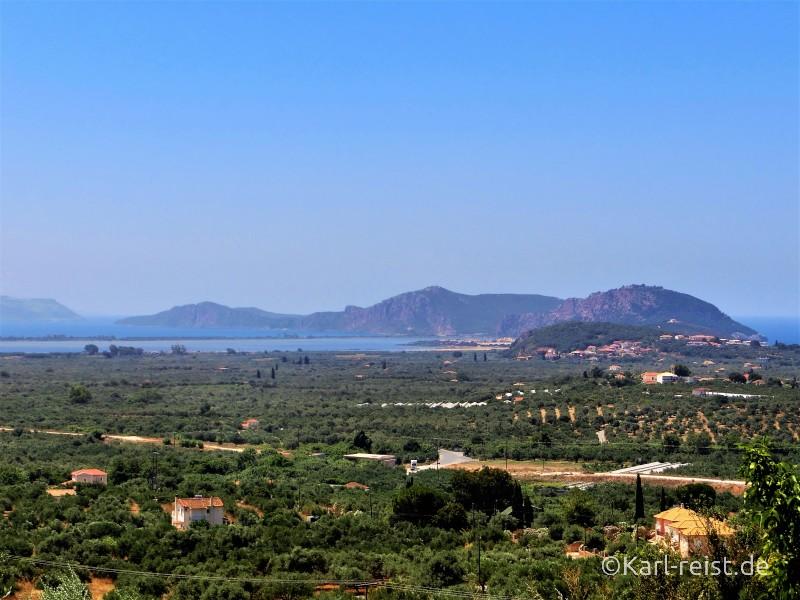 Peloponnes Westpeloponnes Landschaft