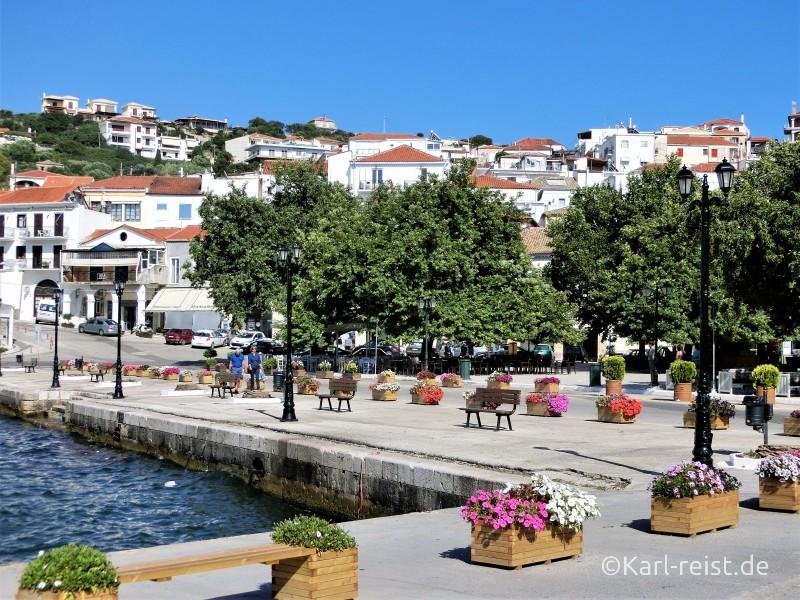 Peloponnes Pylos Marktplatz