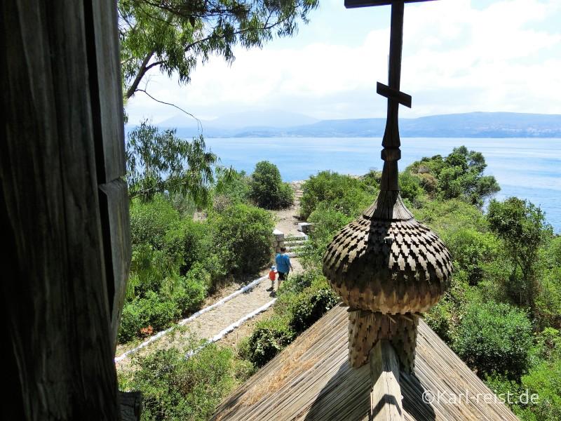 Peloponnes Pylos Bucht von Navarino Kirche