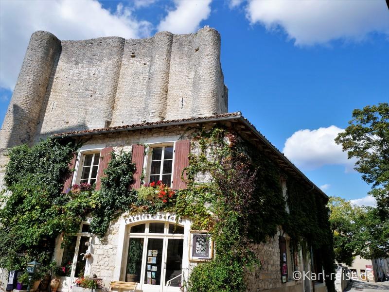 Cite medievale von Chauvigny Donjon Chateau de Gouzon