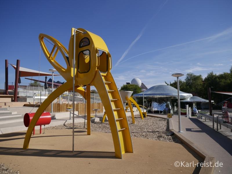 Futuroscope Poitiers Spielplatz Baustelle