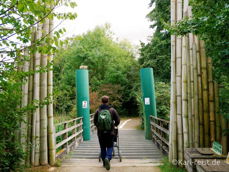 Vallée des Singes Romange Tal der Affen Eingang zur Insel