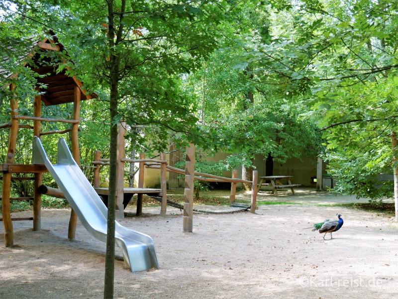 Vallée des Singes Romange Tal der Affen Kleiner Spielplatz