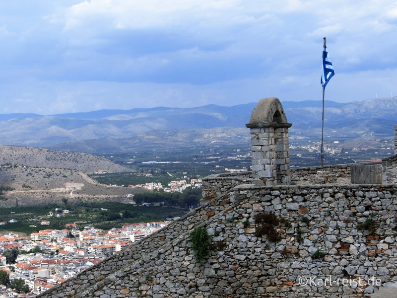 Palamidi Castle Festung in Nauplion Nafplio Ausblick