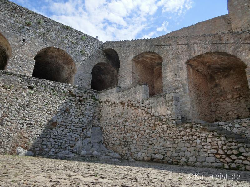 Palamidi Castle Festung in Nauplion Nafplio Treppen