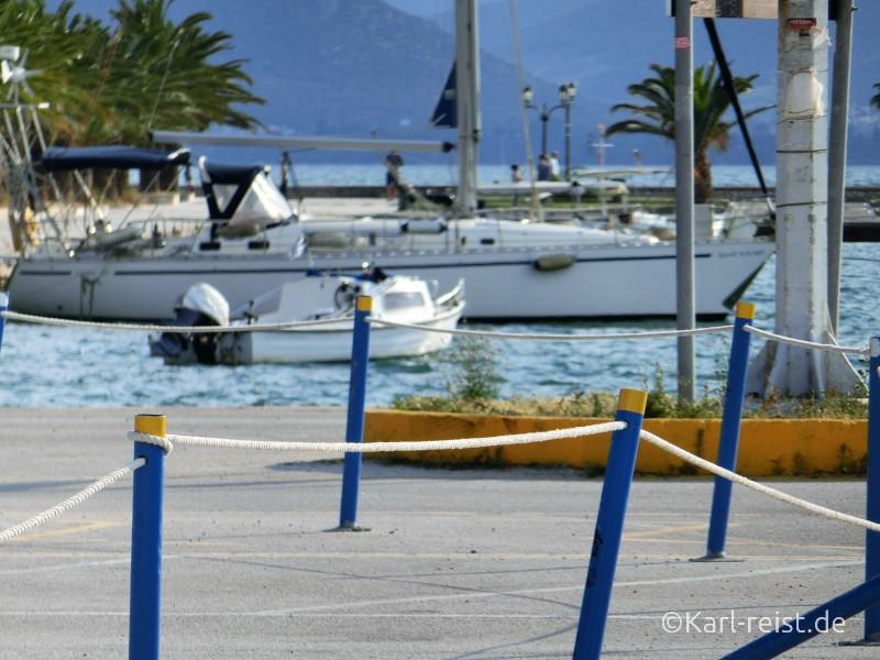 Nafplio Nauplion Hafen Meer Boote Festung Palamidi
