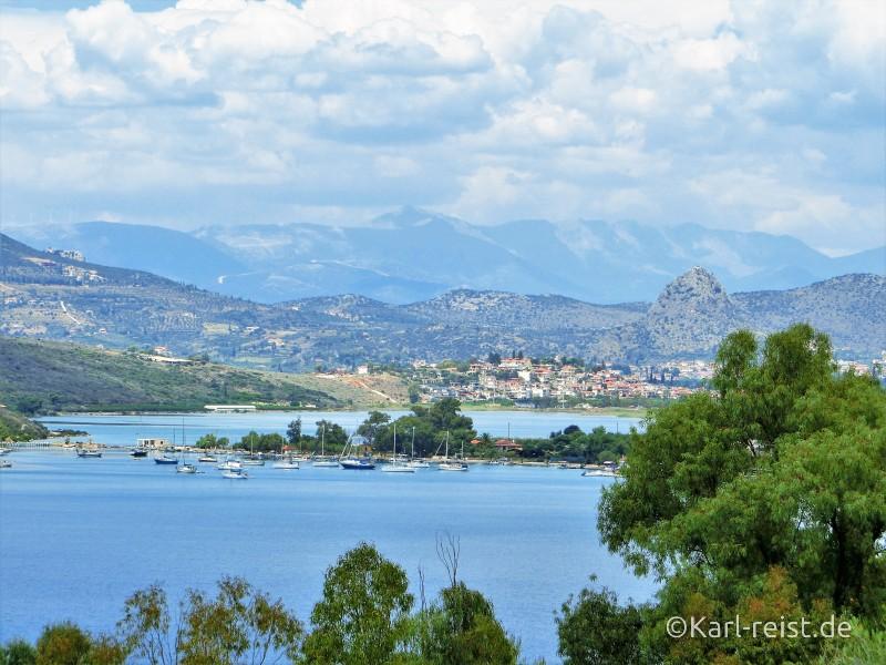 Weg von Kandia nach Tolo Peloponnes Natur