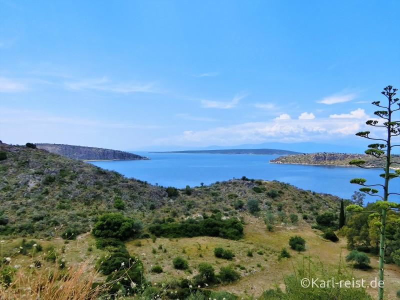 Weg von Kandia nach Tolo Peloponnes