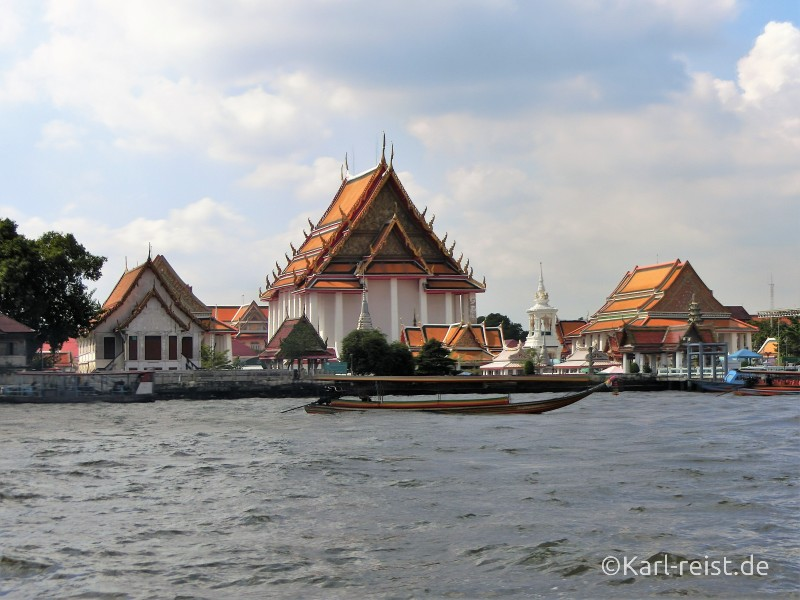 Bangkok Chao Praya Fluss Grand Palace