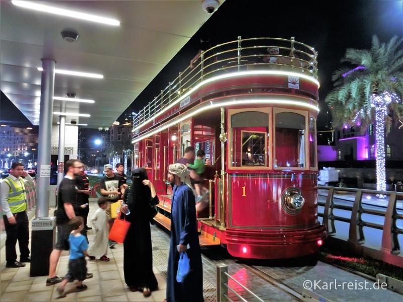 Dubai Trolley Straßenbahn