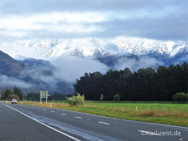 Kaikoura Schlechtes Wetter Neuseeland