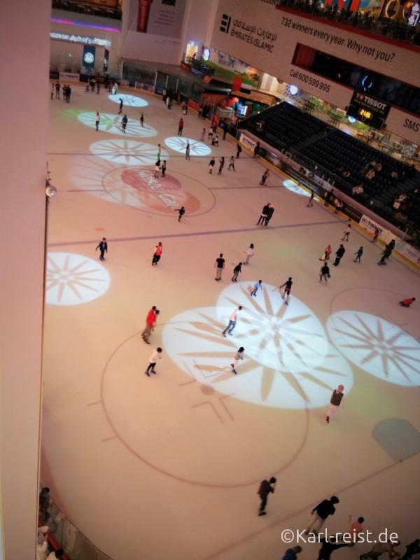 Dubai Mall Ice Rink Eislaufbahn