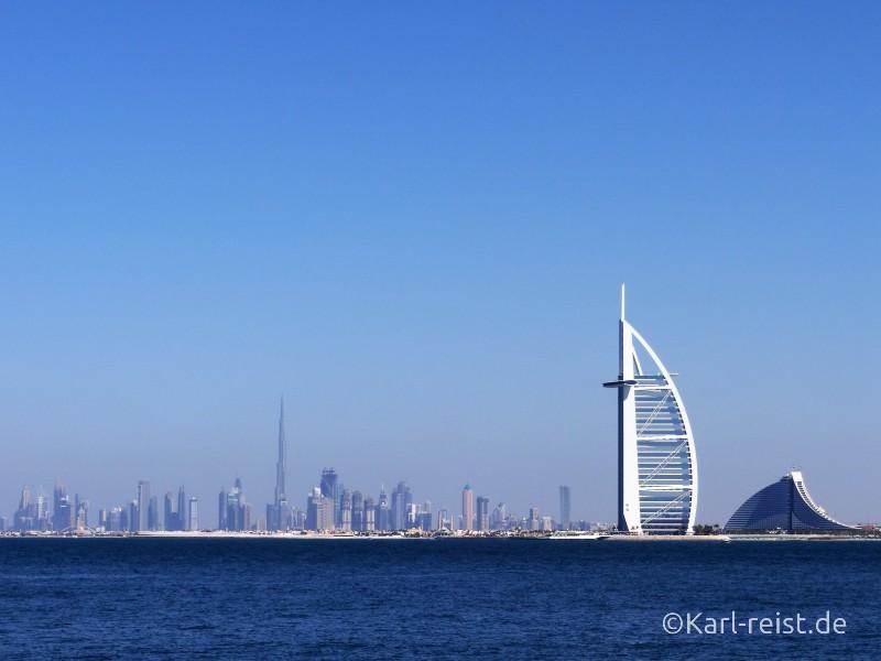 Dubai Palm Jumeirah Aussicht