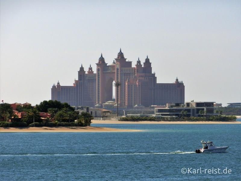 Dubai Palm Jumeirah Aussicht Atlantis