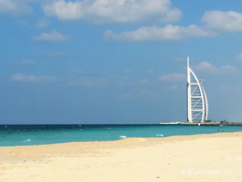 Burj Arab vom Al Sufouh Beach aus