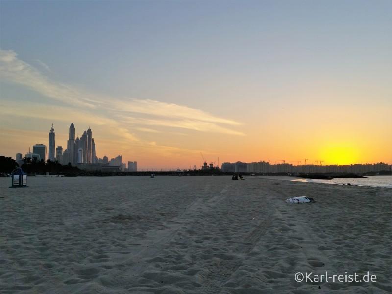 Sonnenuntergang Marina Al Sufouh Beach Dubai