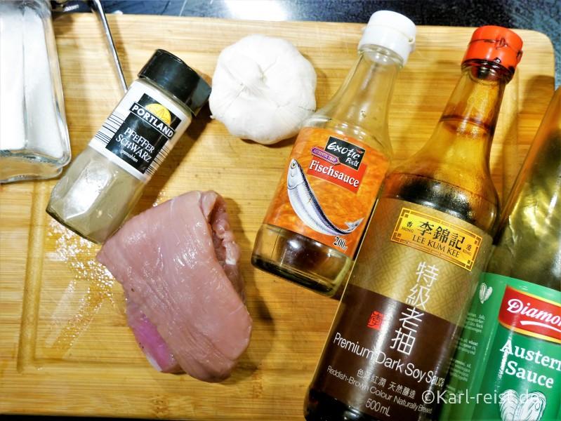 Pork Garlic Pepper Zutaten