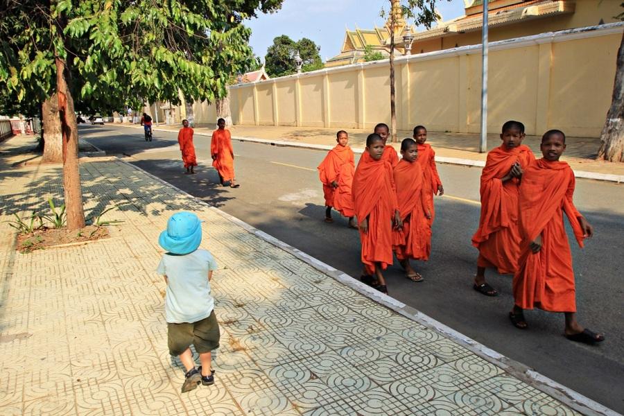 Junge Mönche in Phonm Penh Kambodscha