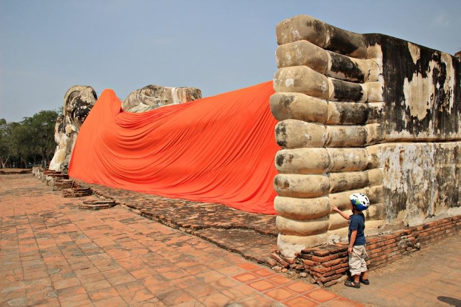 Liegender Buddha Ayutthaya Thailand