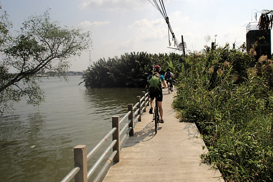 Bang Kachao Bangkok Fahrradtour wege
