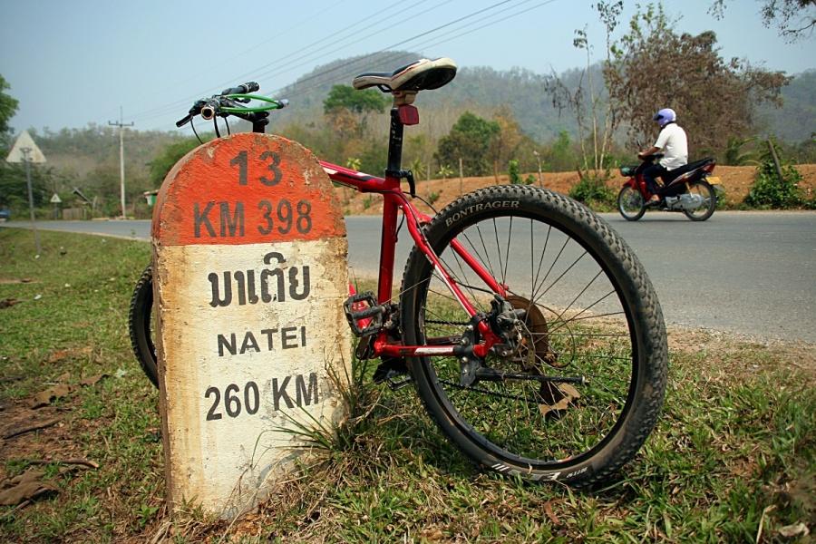 Fahrrad in Laos