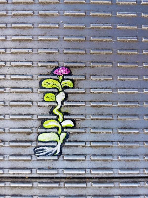 Kaugummikunst auf der Millennium Bridge