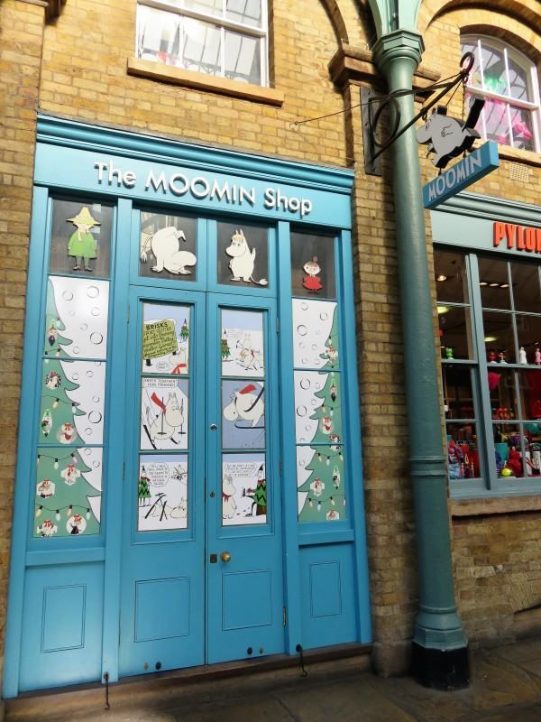 Eingang zum Moomin Shop in Covent Garden