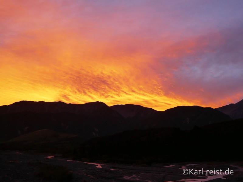 Neuseeland Nordinsel Sonnenuntergang