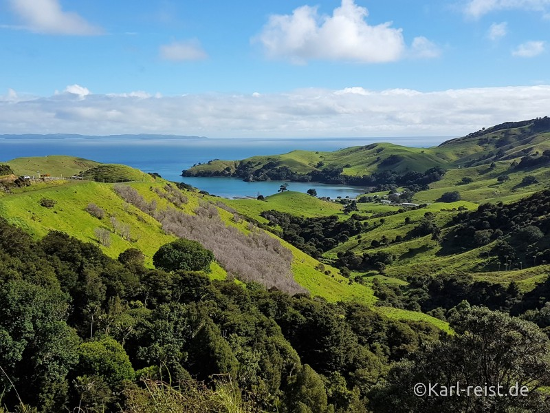 Neuseeland Nordinsel Aussicht Coromandel