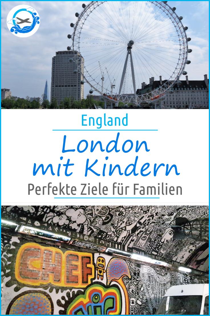 London mit Kindern - die besten Ausflugstipps für jedes Alter! Egal ob Kleinkind, Kind, Schulkind oder Teenager, hier gibt es Ausflüge und Ziele für jeden #Reisenmitkind #londonmitkind