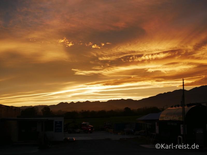Neuseeland Südinsel Nachthimmel Sonnenuntergang