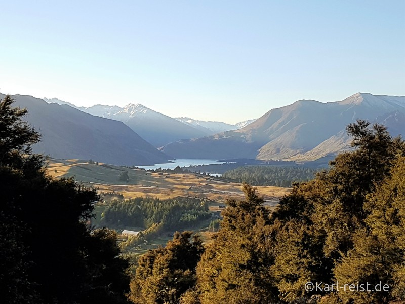Neuseeland Südinsel Aussicht Mount Iron Wanaka