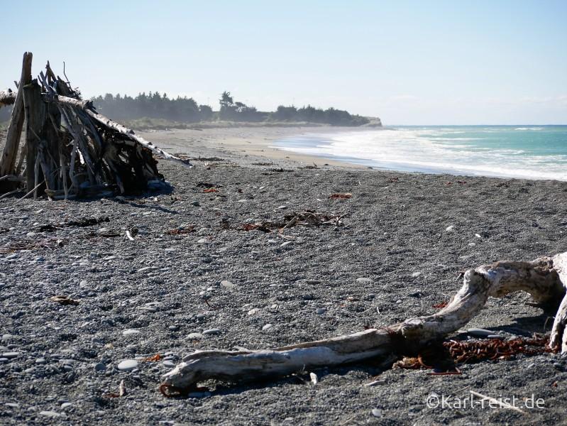 Neuseeland Südinsel Strand Wellen