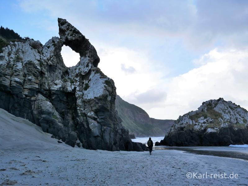 Neuseeland Südinsel einsamer Strand